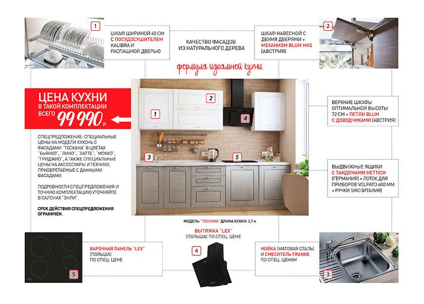 Описание акции Кухня за 99 990р